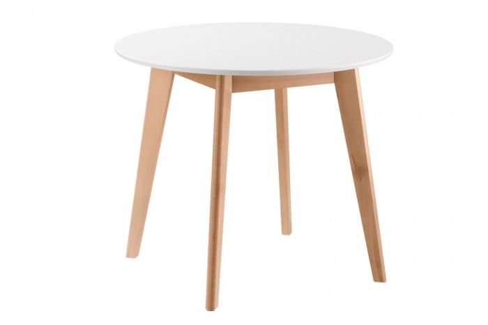Круглый обеденный стол Thunder, белый
