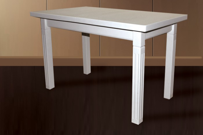 Деревянный раскладной стол Классик2, белый