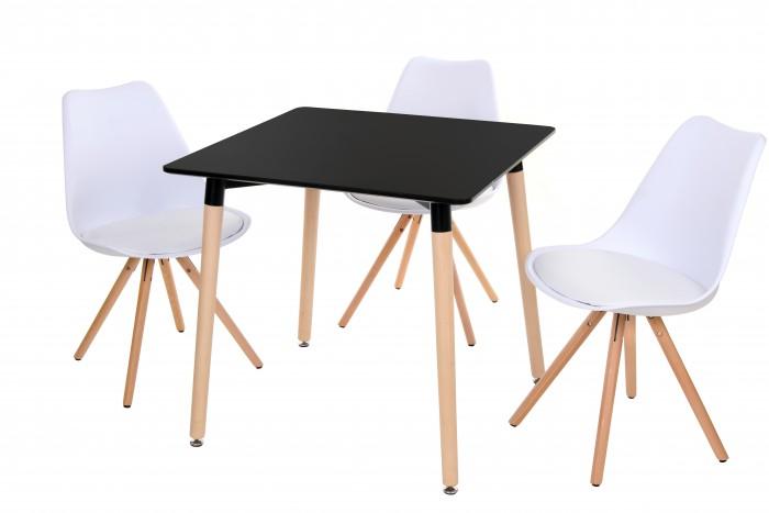 Квадратный обеденный стол TM-30, черный