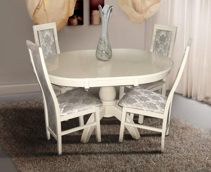 Деревянный раскладной стол Престиж, слон. кость