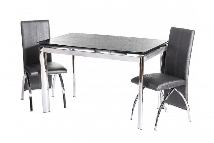 Нецарапающийся раскладной стеклянный стол TN-45, графит