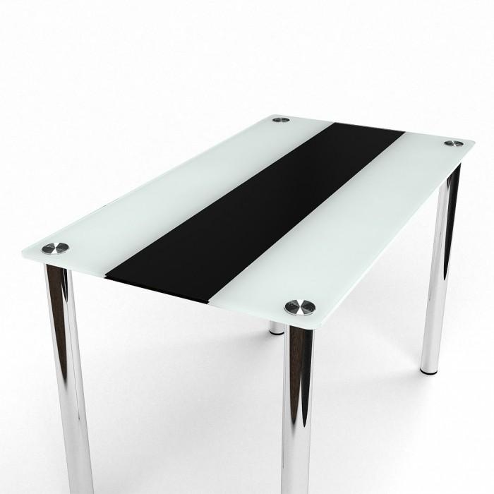 Стол стеклянный Вектор черно-бежевый 1200