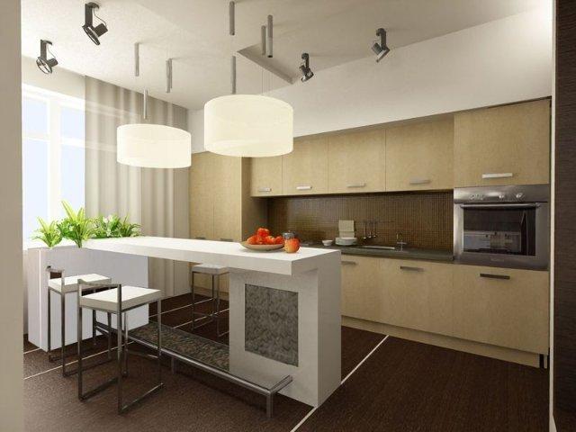 фото кухня барная стойка